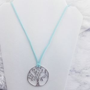 3 FOR 15 Tree Of Life Suede Opera Necklace